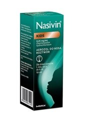 Nasivin Kids 0,25 mg/ml aerozol do nosa 10 ml